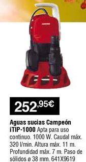 Oferta de Bomba de achique aguas sucias por 252,95€