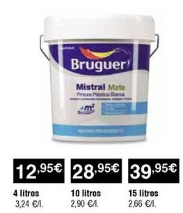 Oferta de Pintura mate industrial Bruguer por 12,95€