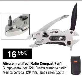 Oferta de Alicate multiherramientas Ratio por 16,95€