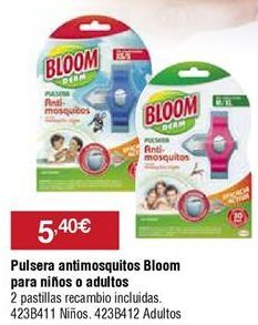 Oferta de Pulsera antimosquitos Bloom por 5,4€