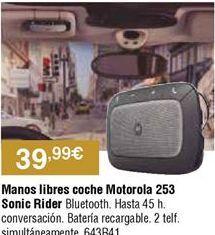 Oferta de Manos libres Motorola por 39,99€