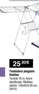 Oferta de Tendedero Habitex por 25,9€