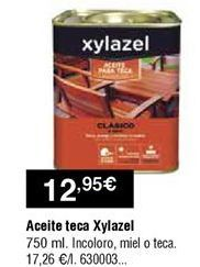 Oferta de Aceite de teca Xylazel por 12,95€