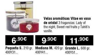 Oferta de Velas por 6,9€