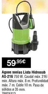 Oferta de Bomba de achique aguas sucias por 59,95€