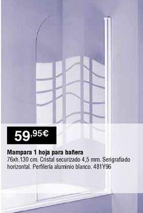 Oferta de Mampara de baño por 59,95€