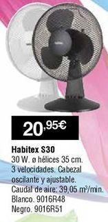 Oferta de Ventiladores Habitex por 20,95€