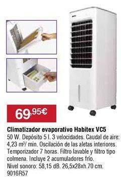 Oferta de Climatizador evaporativo Habitex por 69,95€
