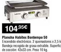 Oferta de Plancha de asar Habitex por 104,95€