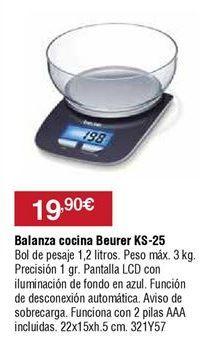 Oferta de Balanza de carga electrónica Beurer por 19,9€