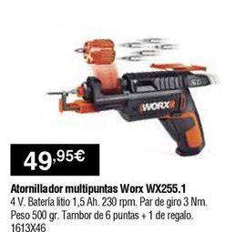Oferta de Atornillador worx por 49,95€