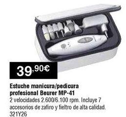 Oferta de Estuche de manicura Beurer por 39,9€
