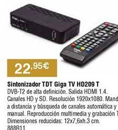 Oferta de Sintonizador tdt por 22,95€
