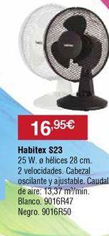 Oferta de Ventiladores Habitex por 16,95€