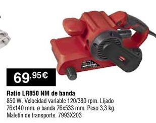Oferta de Lijadora banda Ratio por 69,95€