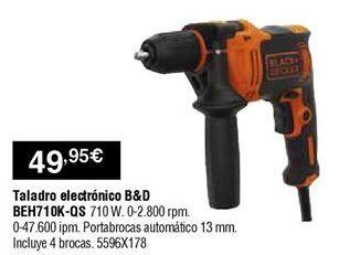 Oferta de Taladro electrónico Black & Decker por 49,95€
