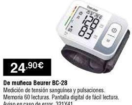 Oferta de Tensiómetro Beurer por 24,9€
