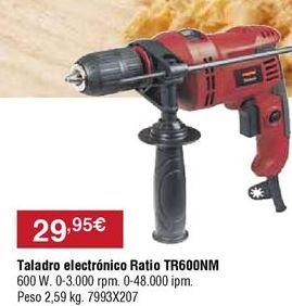 Oferta de Taladro electrónico Ratio por 29,95€