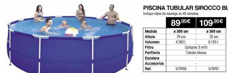 Oferta de Piscina tubular por 89,95€