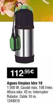 Oferta de Bomba de achique aguas limpias por 112,95€