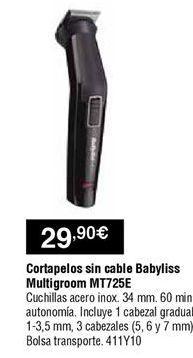 Oferta de Cortapelos Babyliss por 29,9€