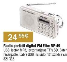 Oferta de Radio portátil por 24,95€