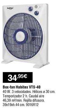 Oferta de Ventiladores Habitex por 34,95€