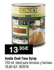 Oferta de Aceite de teca dyrup por 13,95€
