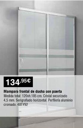 Oferta de Mampara frontal corredera por 134,95€