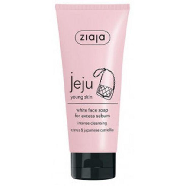 Oferta de Ziaja Jeju Young Skin Jabón Facial Blanco por 3,49€