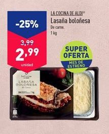 Oferta de Lasaña boloñesa por 2,99€