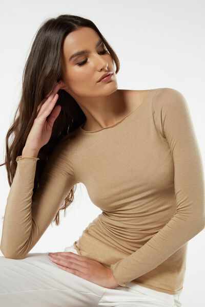 Oferta de Jersey de Cuello Barco de Cashmere Ultraligero de Modal por 20,9€