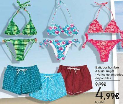 Oferta de Bañador hombre o bikini mujer  por 4,99€