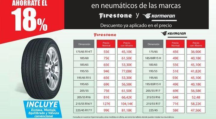 Oferta de En Neumáticos de las marcas Doublestar, Firestone por