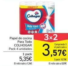 Oferta de Papel de cocina Para Todo COLHOGAR por 5,35€