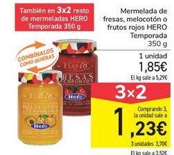 Oferta de Mermelada de fresas, melocotón o frutos rojos HERO por 1,85€