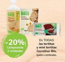 Oferta de En TODAS las tortitas y mini tortitas Carrefour Bio por