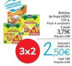 Oferta de Bolsitas de fruta HERO  por 3,75€
