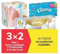 Oferta de En TODOS los productos KLEENES, Elige 3, iguales o combinados, y TE REGALAMOS el de menor precio por