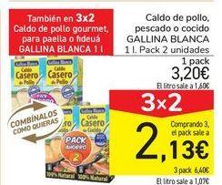 Oferta de Caldo de pollo pescado o cocido GALLINA BLANCA por 3,2€
