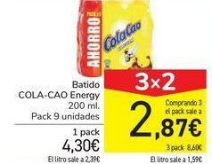 Oferta de Batido COLA-CAO Energy por 4,3€