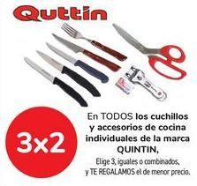 Oferta de En TODOS los cuchillos y accesorios de cocina individuales de la marca QUINTIN, Elige 3, iguales o combinados, y TE REGALAMOS el de menor precio por