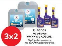 Oferta de En TODOS los Aditivos WYNN'S y ADBLUE, Elige 3, iguales o combinados, y TE REGALAMOS el de menor precio por