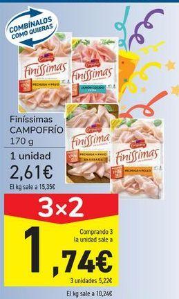 Oferta de Finíssimas CAMPOFRÍO por 2,61€
