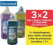 Oferta de En limpiahogares pino, limón, lavanda y flor de primavera Carrefour por
