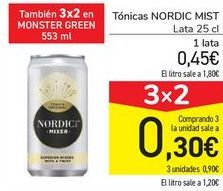 Oferta de Tónicas NORDIC MIST por 0,45€