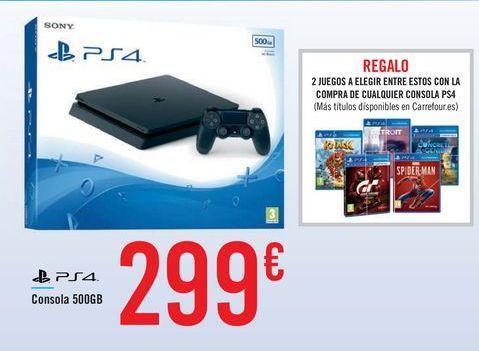 Oferta de PS4 500 GB por 299€