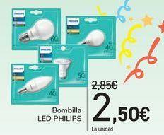 Oferta de Bombilla led Philips por 2,5€