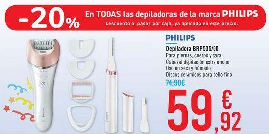 Oferta de Depiladora BRP535/00 PHILIPS por 59,92€