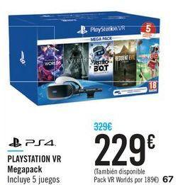 Oferta de PLAYSTATION VR Megapack por 229€